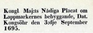 Lappmarksplakatet 1695