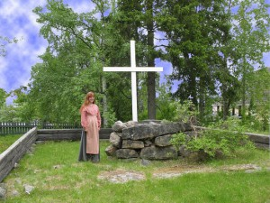 Vilhelmina första kyrka. Foto: Hembygdsmuseet