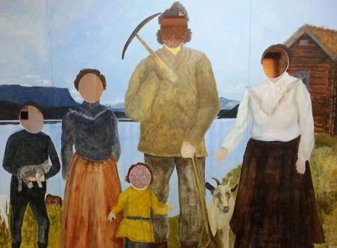 Ransarkungen med familj – ett konstverk blir till