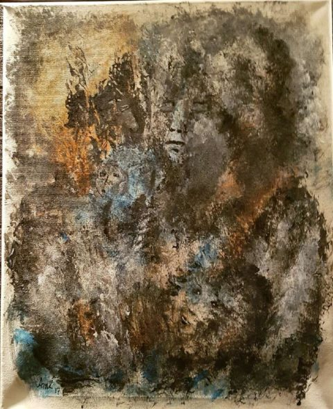 Konstutställning: Konst-tant akryl