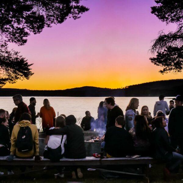 Solnedgång på Saiva 2018